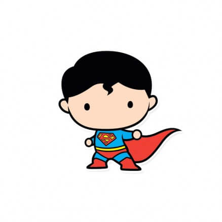 Superman Chibi - Superman Official Sticker