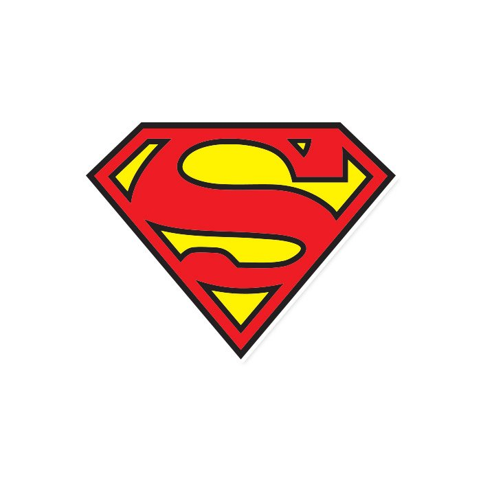 Superman Classic Logo - Superman Official Sticker