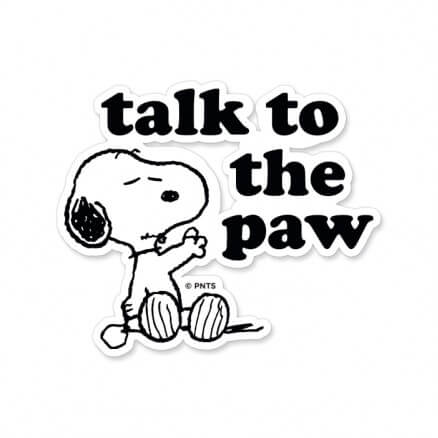 Talk To the Paw - Peanuts Official Sticker