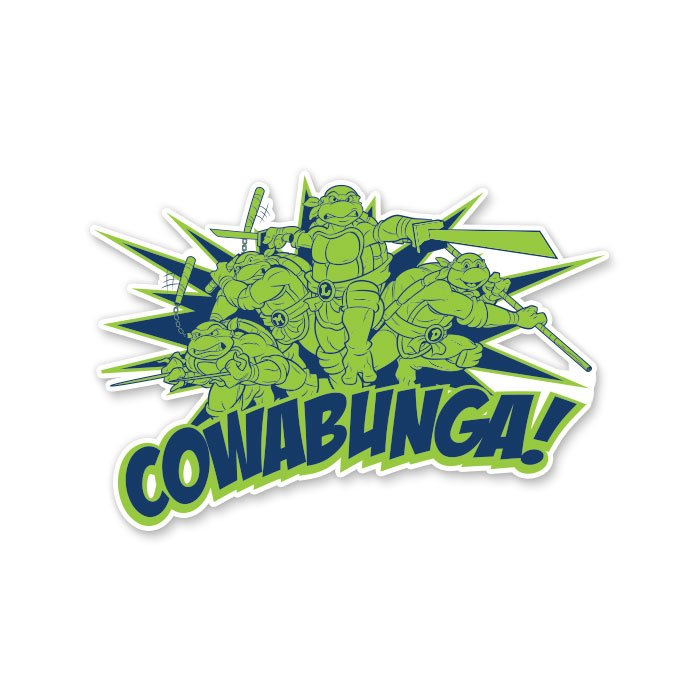 Cowabunga - TMNT Official Sticker
