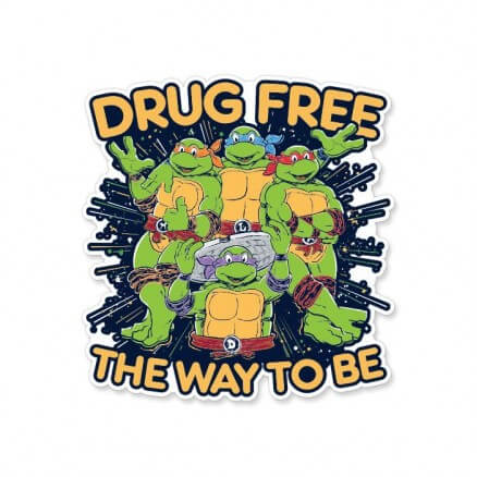 Drug Free - TMNT Official Sticker