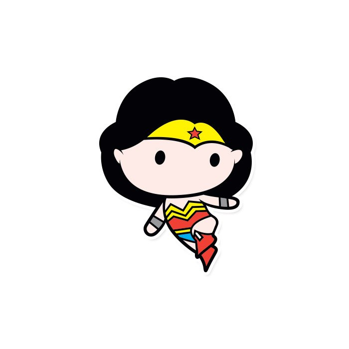 Wonder Woman Chibi - Wonder Woman Official Sticker