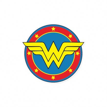 Wonder Woman Classic Logo - Wonder Woman Official Sticker