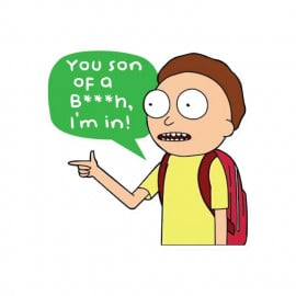 You Son Of A B***h, I'm In - Rick And Morty Official Sticker
