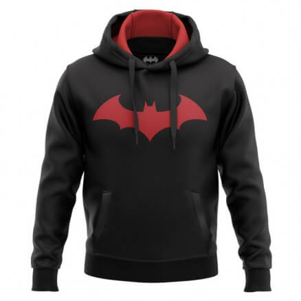 Batman Red Logo - Batman Official Hoodie