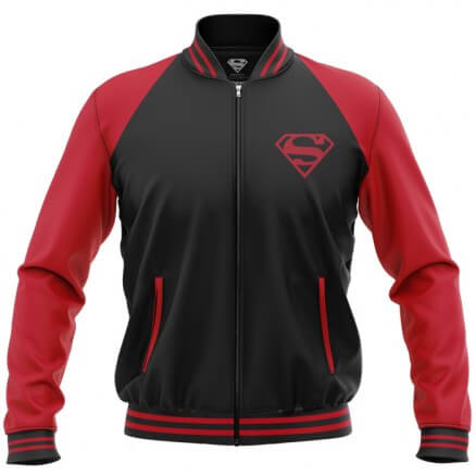 Black Superman Logo - Superman Official Jacket