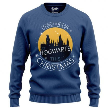 Christmas At Hogwarts - Harry Potter Official Light Pullover