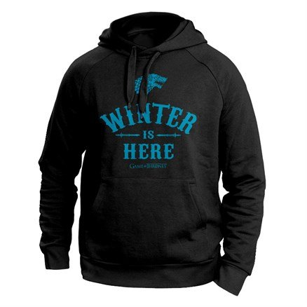 Winter Is Here (Black) - Game Of Thrones Official Hoodie