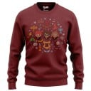 Magical Trio Chibi - Harry Potter Official Light Pullover