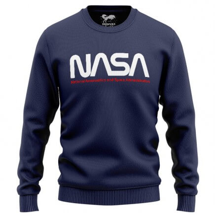 NASA: Worm Logo - NASA Official Sweatshirt