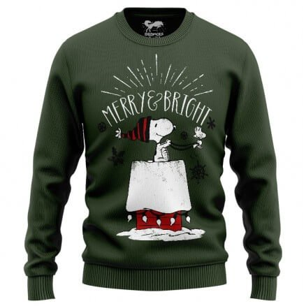 Merry And Bright - Peanuts Official Light Pullover