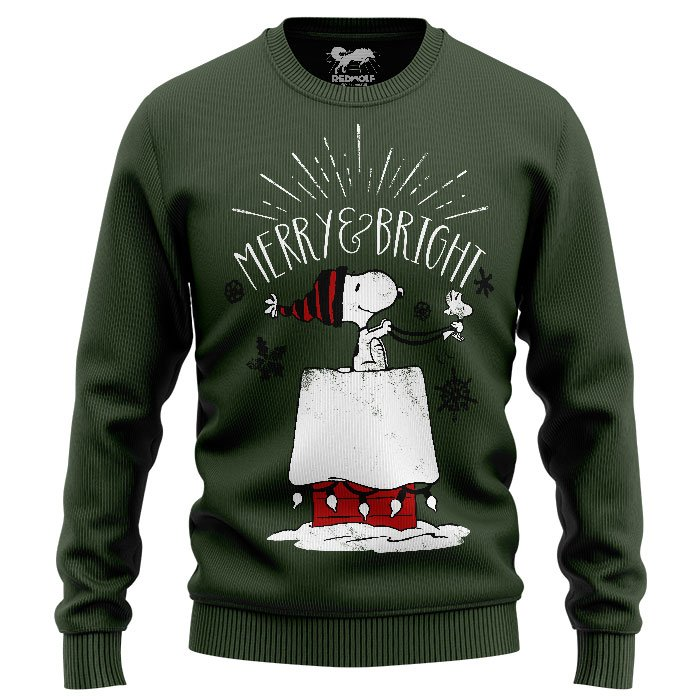 Merry And Bright - Peanuts Official Sweatshirt