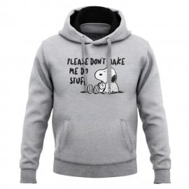 Don't Make Me Do Stuff - Peanuts Official Hoodie