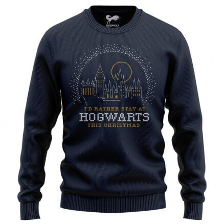 Rather Stay At Hogwarts - Harry Potter Official Light Sweatshirt