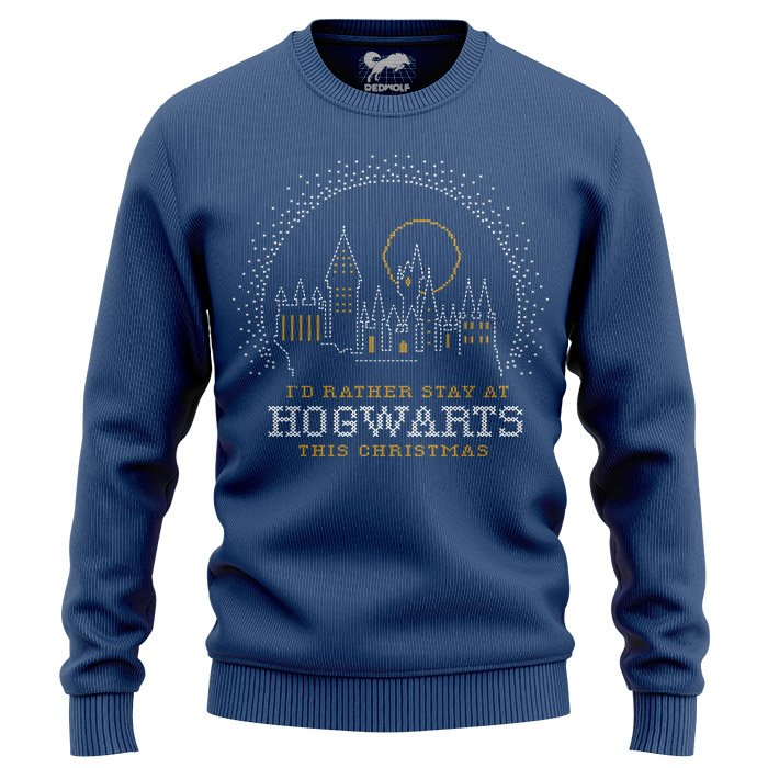 Rather Stay At Hogwarts - Harry Potter Official Light Pullover