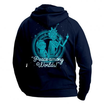Peace Among Worlds - Rick And Morty Official Hoodie