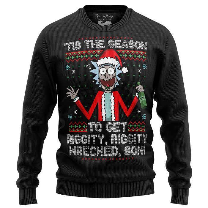 Tis' the Season - Rick And Morty Official Light Pullover