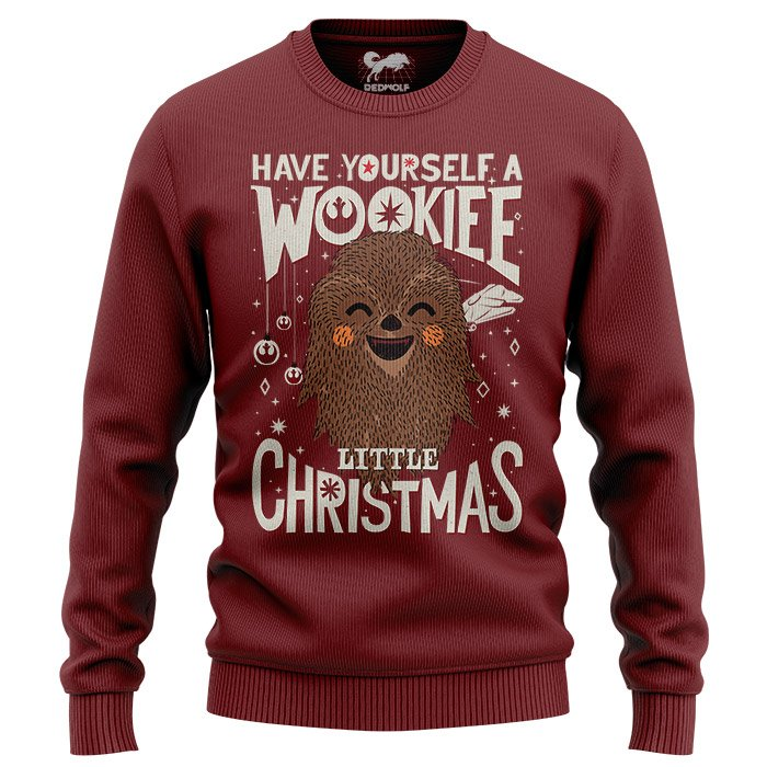 Wookie Little Christmas - Star Wars Official Light Pullover