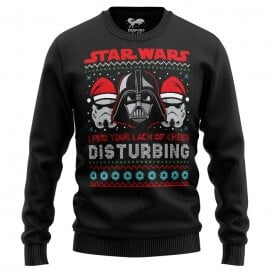 Darth Vader: Lack Of Cheer (Black) - Star Wars Official Light Pullover