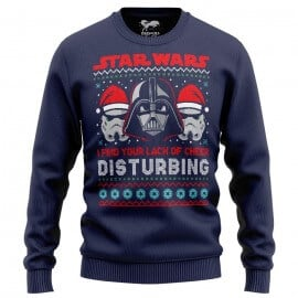 Darth Vader: Lack Of Cheer (Navy Blue) - Star Wars Official Light Sweatshirt