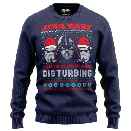 Darth Vader: Lack Of Cheer (Navy Blue) - Star Wars Official Sweatshirt