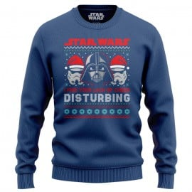 Darth Vader: Lack Of Cheer (Navy Blue) - Star Wars Official Light Pullover