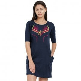 Captain Marvel Suit - Marvel Official T-shirt Dress