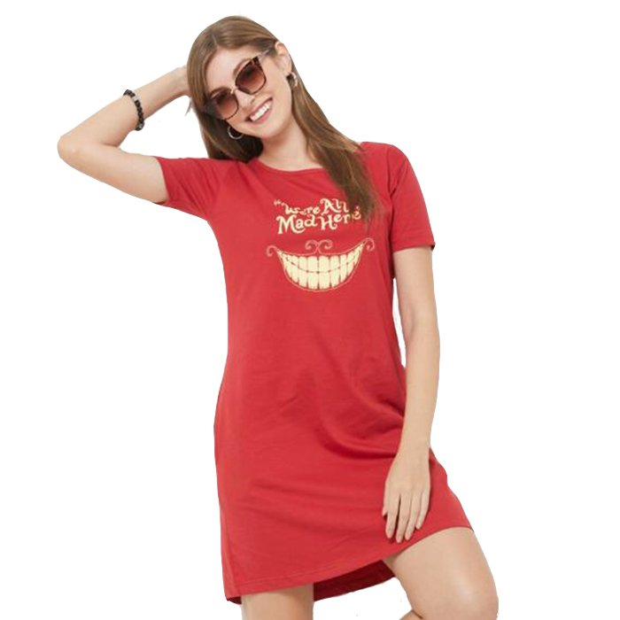 Cheshire Cat: We're All Mad Here - T-shirt Dress
