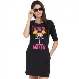 Trouble Maker - Dexter's Laboratory Official T-shirt Dress