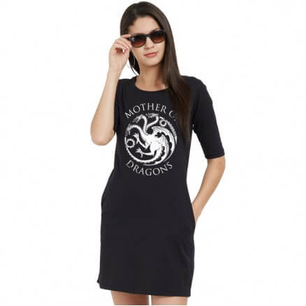 Mother Of Dragons - Game Of Thrones Official T-shirt Dress