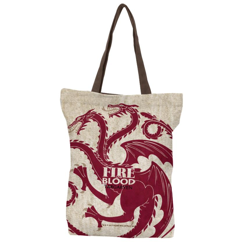 Fire And Blood - Official Game Of Thrones Official Tote Bag