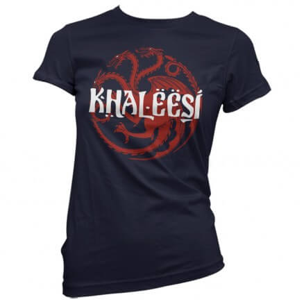 Khaleesi (Navy Blue) - Game Of Thrones Official T-shirt