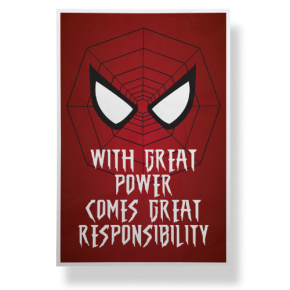With Great Power Comes Great Responsibility - Poster
