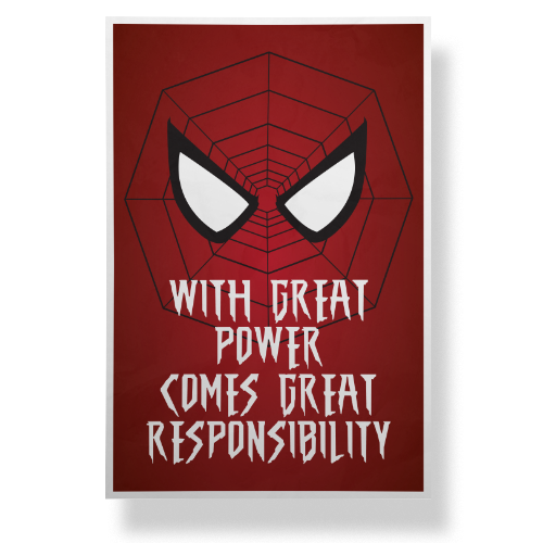 essay on with power comes great responsibility Read this full essay on with great leadership comes great responsibility   with great power comes great responsibility the crucible, silence of the.