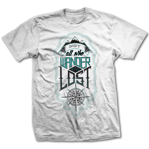Not All Who Wander Are Lost is an excellent purchase for yourself, and for a gift to family and friends. Buy Not All Who Wander Are Lost tee design art as a T-shirt for men, women, youth, girls, boys, kids and children right now!