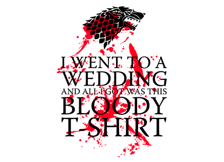 b07f7911 Game of Thrones: Red Wedding T-shirt | House Stark Tees | Redwolf
