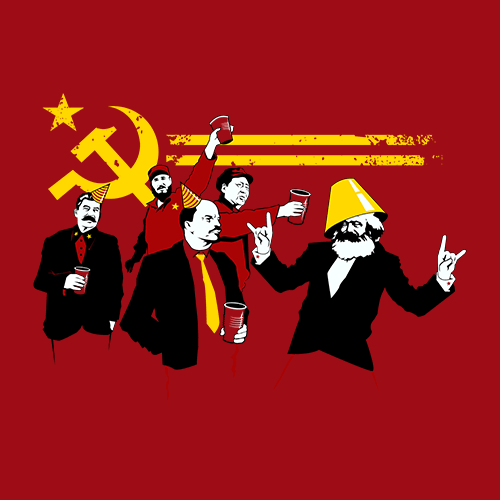 f53282b8 The Communist Party T-shirt | Funny T-shirts | Redwolf