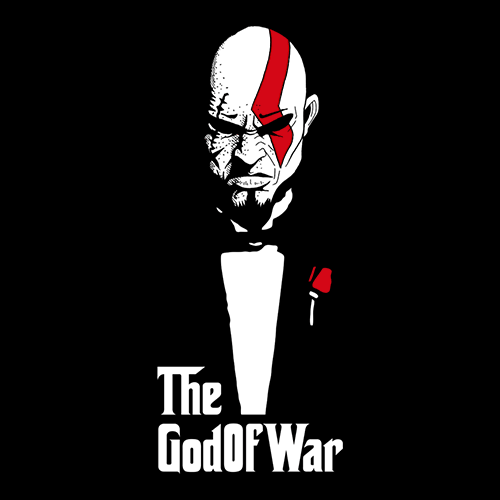 God Of War And Death T Shirt  The Godfather Tees Redwolf
