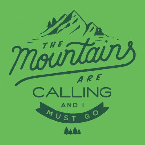Mountains are calling travel t shirts redwolf for Travel t shirt design ideas