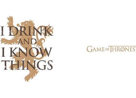 I Drink And I Know Things Official Game Of Thrones Mug