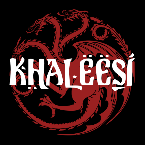 khaleesi official game of thrones t shirts redwolf. Black Bedroom Furniture Sets. Home Design Ideas