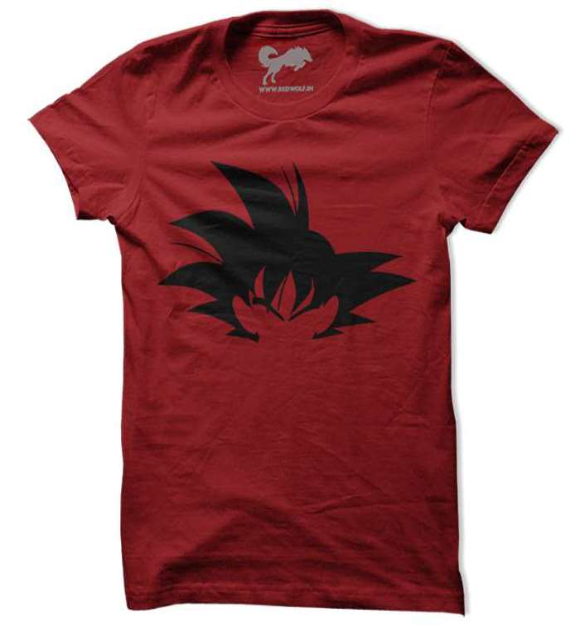 Dragon ball z goku t shirt dbz tees redwolf kakarot silhouette design by redwolf buycottarizona Choice Image