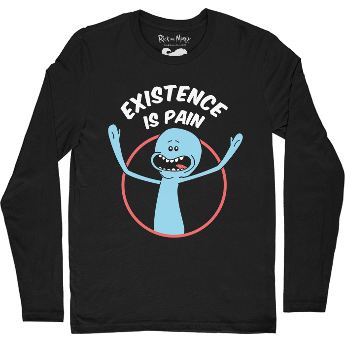 9acf446d8 Mr. Meeseeks: Existence Is Pain - Rick And Morty Official Full Sleeve T-