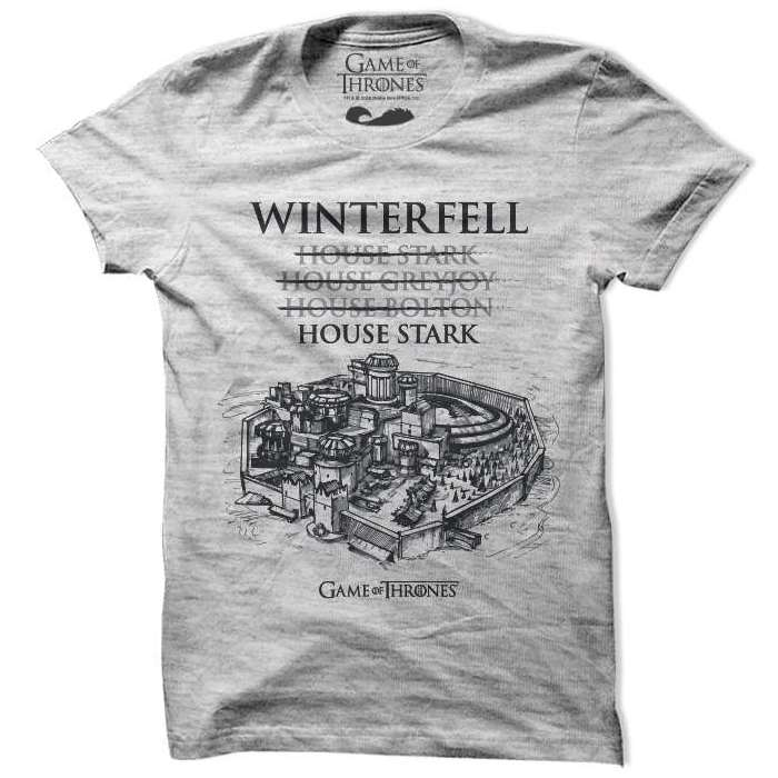 House of winterfell game of thrones t shirts redwolf for Game of thrones gifts for men