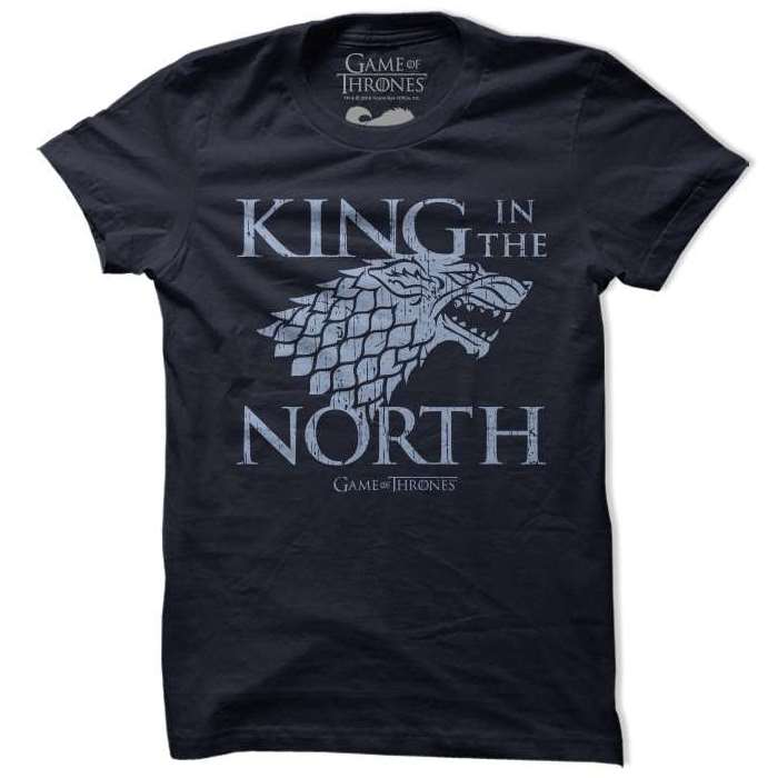 813dc077 King In The North | Official Game Of Thrones T-shirts | Redwolf