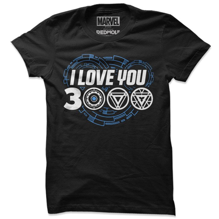 eb4065a3 Iron Man: I Love You 3000 T-Shirt | Official Iron Man T-shirts | Redwolf