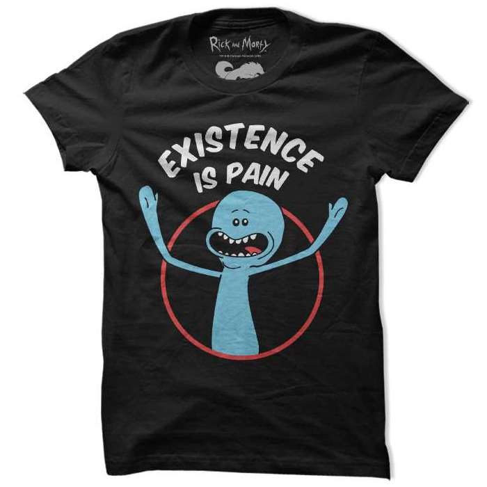 85f0a8a3 Rick and Morty | Mr. Meeseeks: Existence Is Pain T-shirt | Redwolf