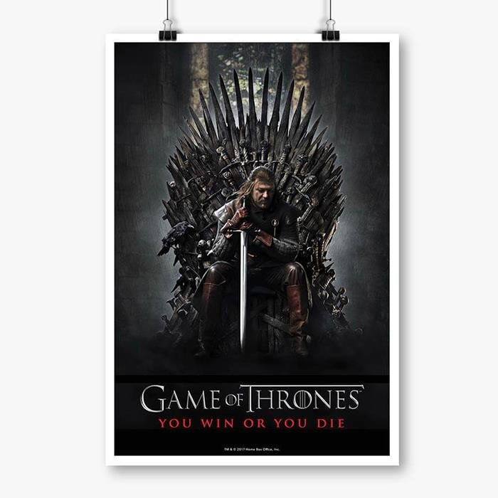 Season 1 Promo Game Of Thrones Official Poster Redwolf