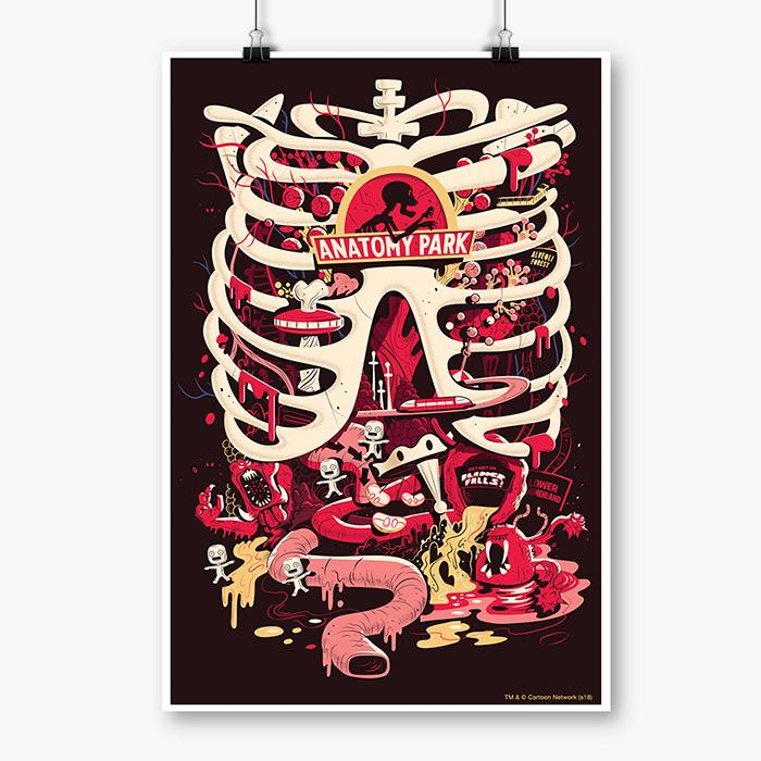 Anatomy Park Rick And Morty Poster Redwolf